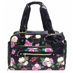 BETSEY JOHNSON FLORAL DIAPER BAG